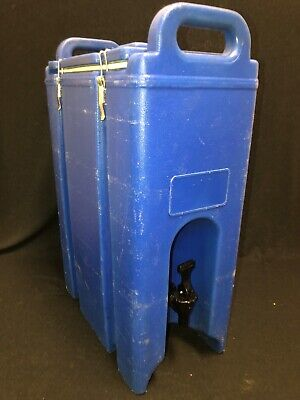 Cambro Insulated Drink Dispenser 500lcd 4.5 Gal Hotcold Handles Royal Blue. 2