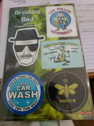 Breaking Bad Set Of 6 Fridge Magnets Collection Los Pollos Hermanos Vamanos Pest - $5.00