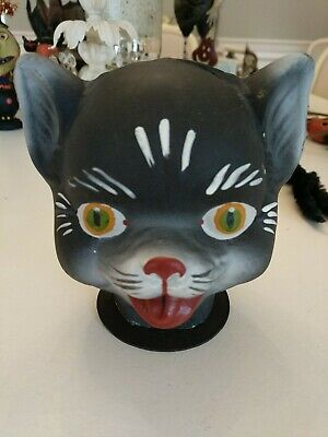 Halloween Cat Candy Container primitive folk art Bethany low Style paper mache ?