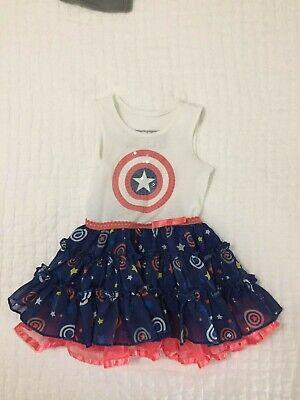 Baby Captain America Costume (Marvel Captain America infant 12 month dress Halloween)