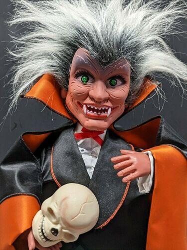 """Halloween Dracula Vintage Rennoc Animated Illuminated 18"""" Figurine See Video"""