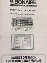 Bonaire Integra touchpad Evaporative air conditioner Fulham Gardens Charles Sturt Area Preview