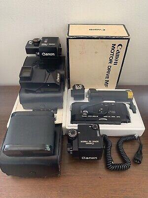 Canon f1 Servo EE Finder Booster T Finder Speed Finder MF Motor Drive Boxed 35mm