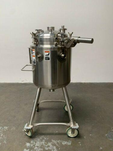 Walker 100 Liter Stainless Steel Jacketed Reactor 45 PSI