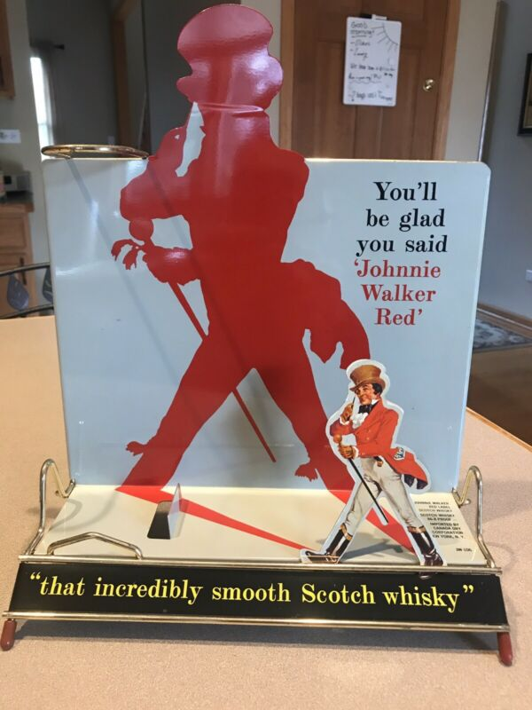 Vintage Johnnie Walker Store Display Whiskey Scotch Great Condition