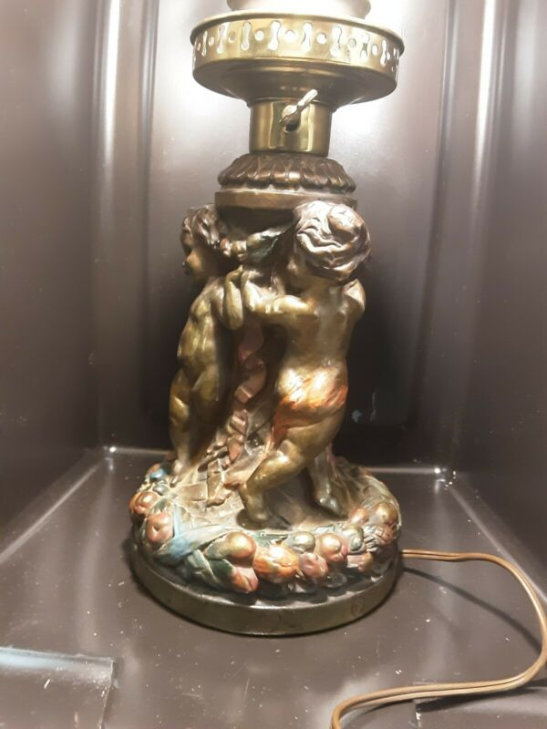 EXTREMLY RARE Armor Bronze Co. Of New York Art Deco figural lamps