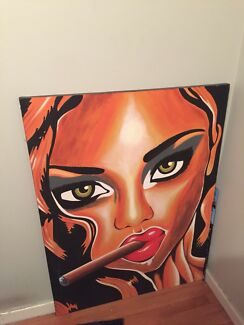Hand painted art piece