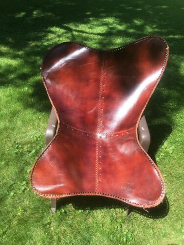 Replacement Goat Leather Cover For Butterfly Chair