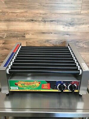 Apw Wyott Hrs-31s Non-stick Hot Dog Roller Grill Slanted Top 120 V