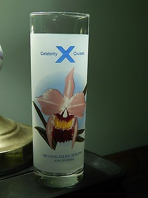 Celebrity Cruises  Frosted High Ball Drinking Glass W  Drink Recipes  Zodiac