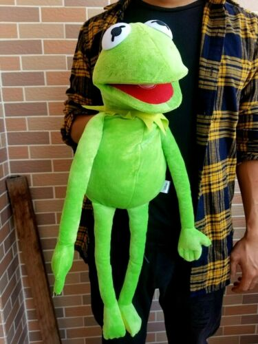 The Muppets Show 60Cm Kermit Frog Hand Puppet Plush Toy Ventriloquism