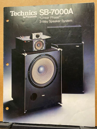 Vtg Technics Brochure ~ Speaker System SB-7000A  **Original!