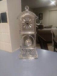 Godinger Crystal Legends Desk Pendulum Grandfather Style Clock