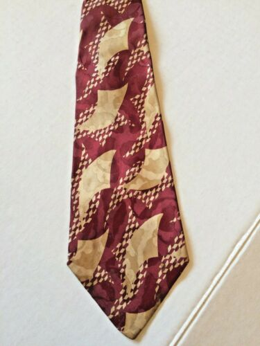 "1940s Vintage Necktie Charlaine Hand Made Croydon Cravat Swing Tie 4"" Wide Deco"