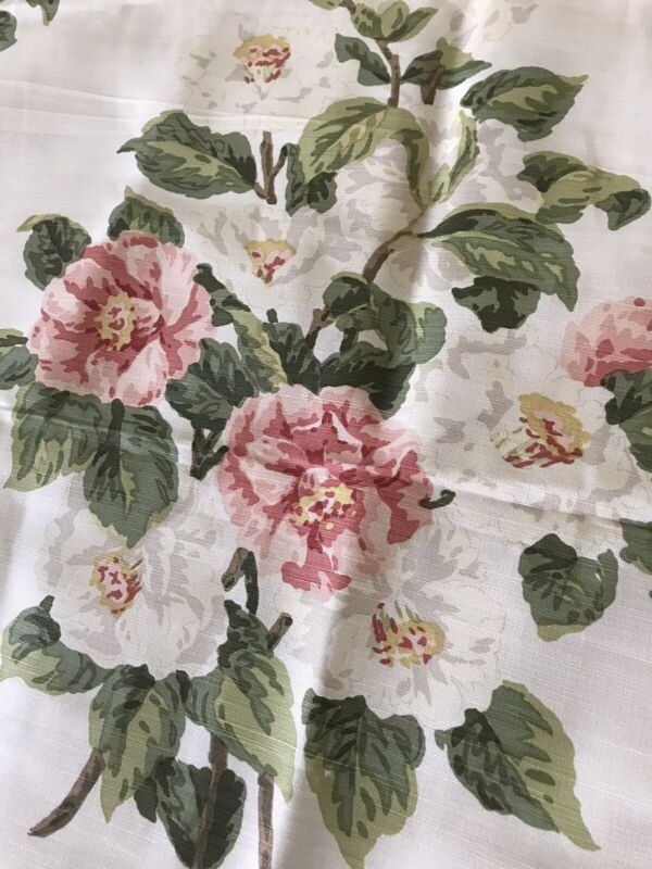 Bennison England  Fabric Vintage 2007 ATLANTA MAGNOLIA PINK ROSES FLORAL