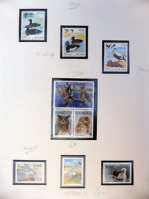ALAND Birds on 2 Pages U/M NB3478