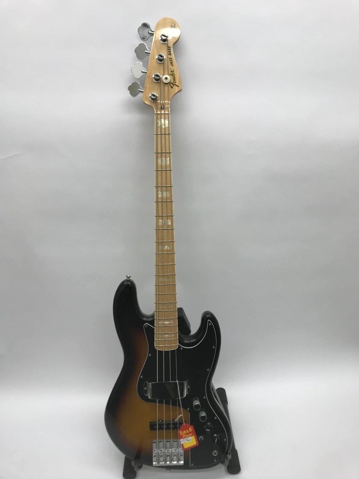 Fender jazz bass us pickups badass ii bridge sunburst bin