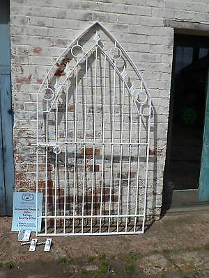 Arch Gate gothic / modern style  galvanized and powder coated white
