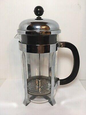 BODUM 32 Oz. French Press Coffee Maker Chrome/Stainless Steel Bodum Stainless Steel Coffee Press