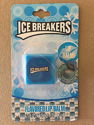 .07 Oz. Ice Breakers Mint Flavored Lip Balm In A Blue 1
