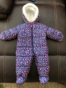 Girl's 6-9 month 1 piece snowsuit