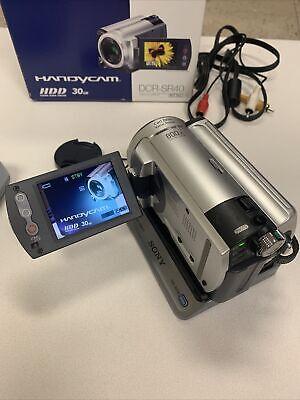 Sony Handycam DCR-SR40 30GB HDD Video Camera Camcorder w/Docking Station