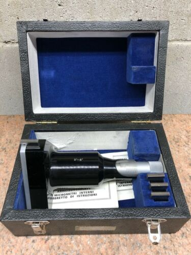 "Fowler Bowers 5-6"" Holemike Bore Hole Gage Micrometer with Setting Ring"