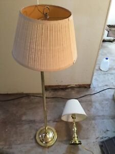 """2 lamps one is 60"""" height and the other is 21"""" height"""