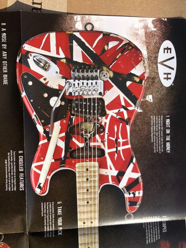 2007 Eddie Van Halen EVH Fender Replica Frankenstein Guitar Catalog NAMM Poster