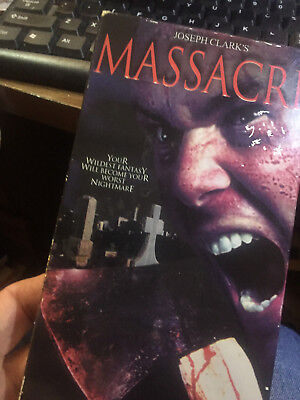Joseph Clarks Massacre Aka Bikini Party Massacre Vhs! 2002 Slasher!
