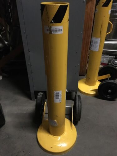 """GRAINGER APPROVED 42"""" Removable Steel Bollard with 5-1/2"""" Outside Dia., Yellow"""
