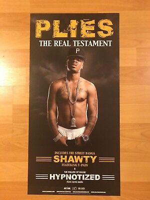 PLIES The Real Testament Promo POSTER UGK Hip Hop Gangsta Rap 2pac Trick Daddy