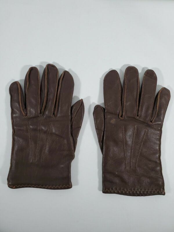 [GENUINE] 1981 Vintage RCMP Pair Of Leather High Glove Size 9 RARE            A2