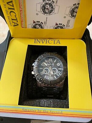 Invicta Men's 17394 Pro Diver Analog Display Swiss Quartz Silver Watch Pre-owned