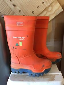 Dunlop orange Purofort thermo rubber boots size 6