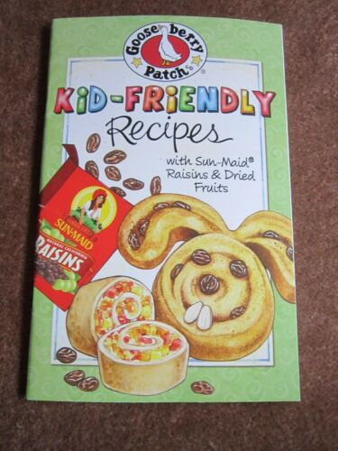 Sunmaid Raisins Cookbook Kid Recipes Cinnabunnies,Honey Chicken & Stuffing MORE!