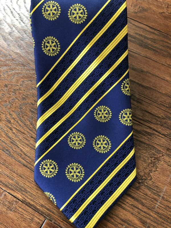 Classic Rotary International Tie Polyester