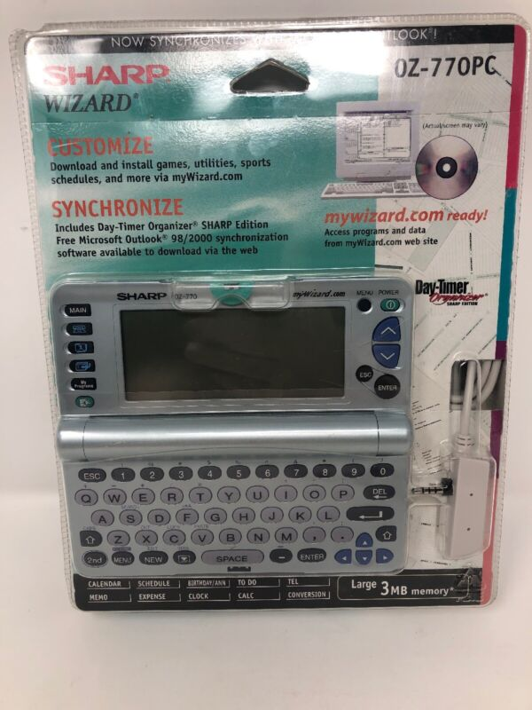 Sharp Wizard OZ-770PC Organizer - 3 MB, 240x80 LCD screen (NEW IN PACKAGING)