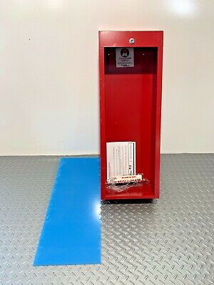 Jl Industries Activar Fire Extinguisher Cabinet W Glass Wall Mount Red P-13
