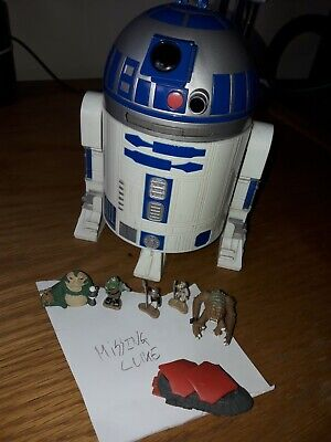 STAR WARS MICRO MACHINES R2-D2 / JABBA'S PALACE PLAYSET GALOOB 1994 95% COMPLETE