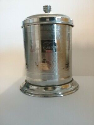 Vintage plated Tea Caddy (2)