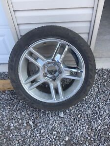 "2000-2003 F150 Harley Davidson 20"" chrome wheel and tire"