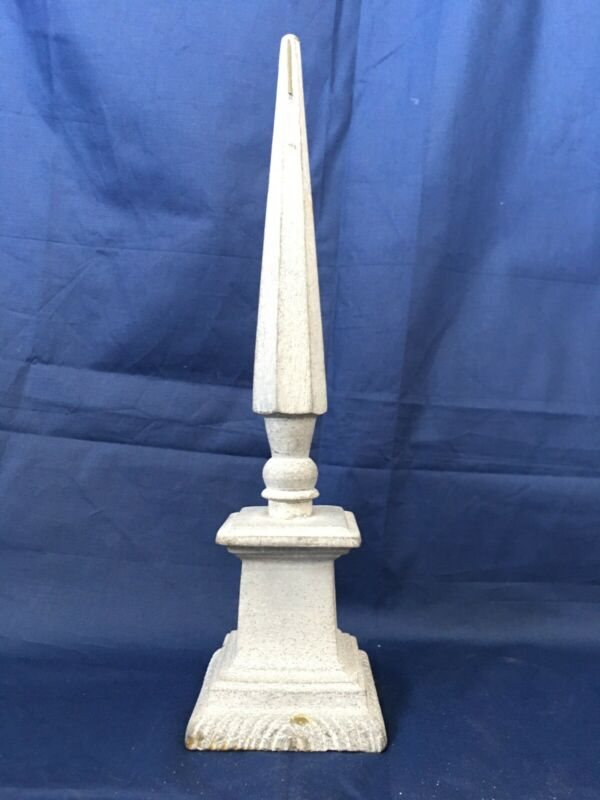 "Vintage Aluminum, Spelter or  Zinc Decorative Finial Ornament 12""X3.25"""