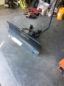 Plow blade for a MTD lawn tractor