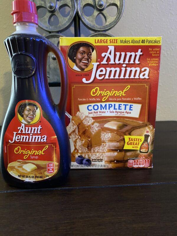 Aunt Jemina Syrup Original Flavor Bottle & Original Pancake Mix DISCONTINUED