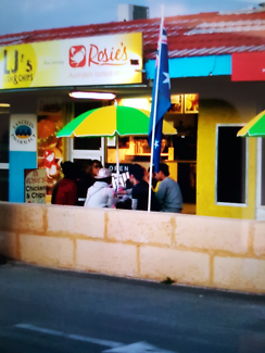 Fish and chips shop.