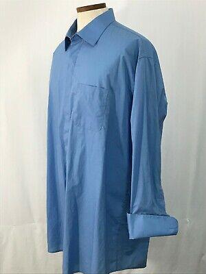 STACY ADAMS Hidden Buttons / French Cuff  Button Down Dress Shirt 19 / -