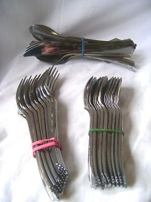 Coloured Plastic Spoons (NEW SILVER COLOURED PLASTIC ALL OCCASION CUTLERY FORKS SPOONS KNIVES)