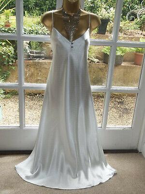 Vintage Style Secrets @ BHS Liquid Satin Nightie Nightdress Gown UK16 Tall