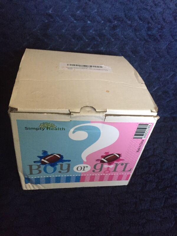 Gender Reveal Football Pink & Blue Powder New Open Box
